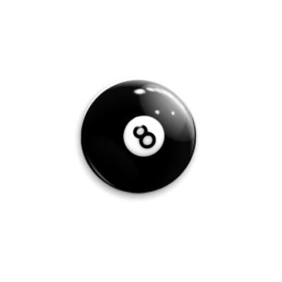 Значок 25мм '8-ball'