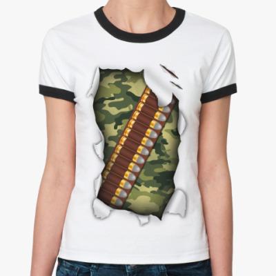 Женская футболка Ringer-T Камуфляж