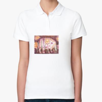 Женская рубашка поло Слоник