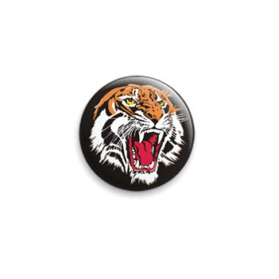 Значок 25мм  Тигр