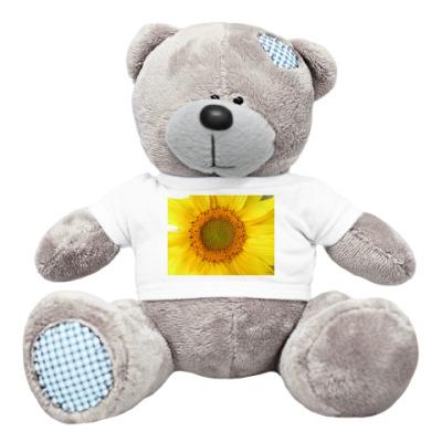 Плюшевый мишка Тедди подсолнух