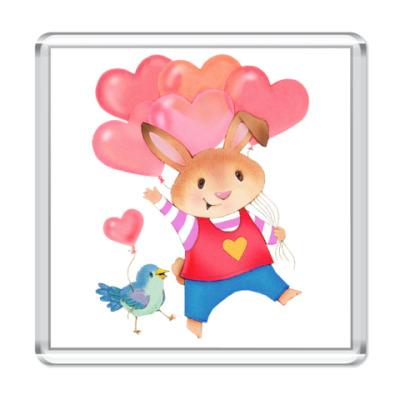 Магнит Кролик с Любовью