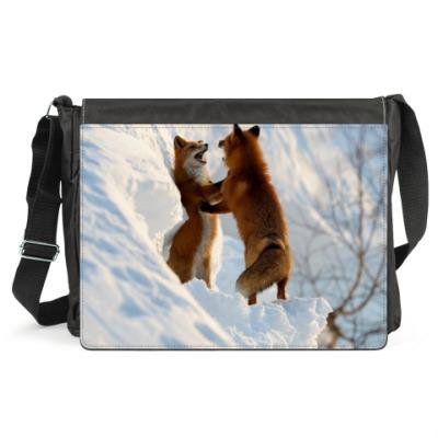 Сумка Зимние лисички