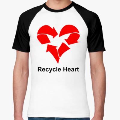 Футболка реглан Recycle Heart