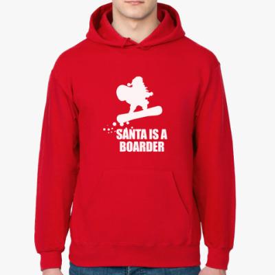 Толстовка худи Santa is a boarder