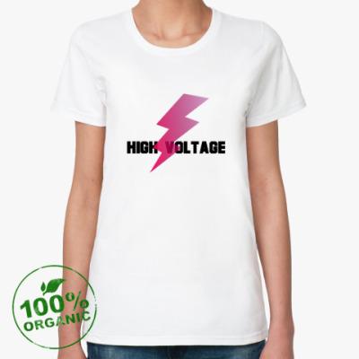 Женская футболка из органик-хлопка Voltage