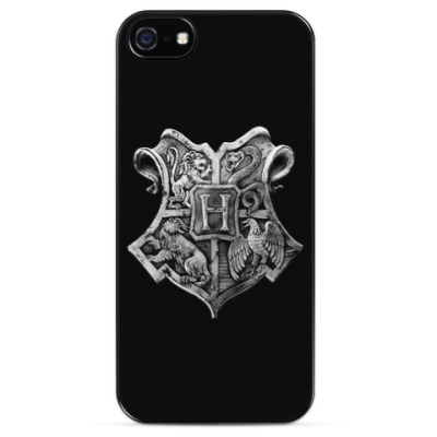 Чехол для iPhone Гарри Поттер (Хогвартс. Серебренный герб)