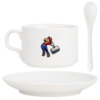 Кофейный набор Марио бъет тебя по пальцам