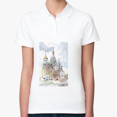 Женская рубашка поло Собор Спас-на-Крови. Питер