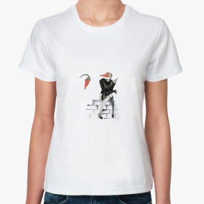 Классическая футболка  'A lady with a cigar'