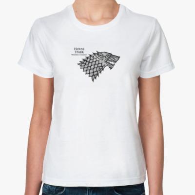 Классическая футболка Winter Is Coming,Game Of Throne