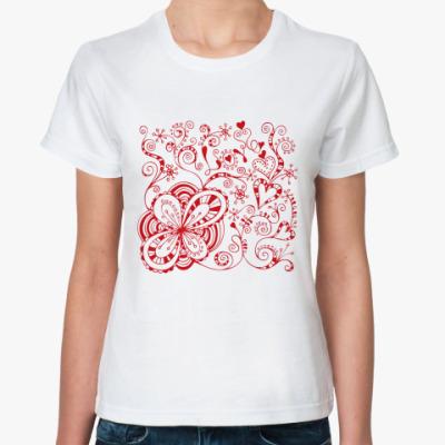 Классическая футболка Цветы любви