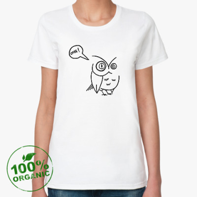 Женская футболка из органик-хлопка Сова OMGowl