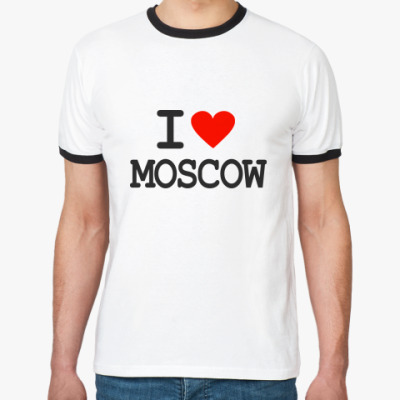 Футболка Ringer-T I love Moscow