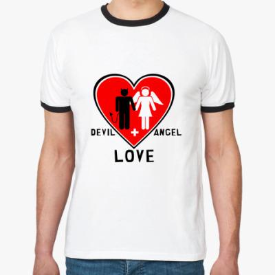 Футболка Ringer-T Devil+Angel