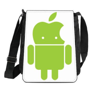 Сумка-планшет Андроид голова-яблоко