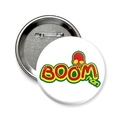 Значок 58мм Boom Man