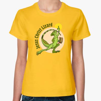 Женская футболка Jesus Christ Lizard