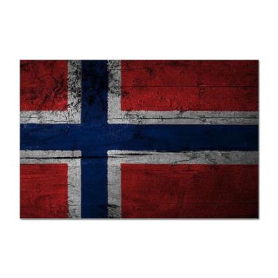 Наклейка (стикер) Норвежский флаг