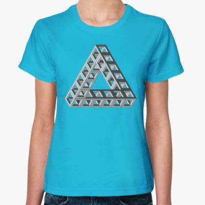 Женская футболка Невозможный треугольник