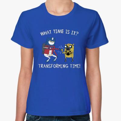 Женская футболка Transforming time