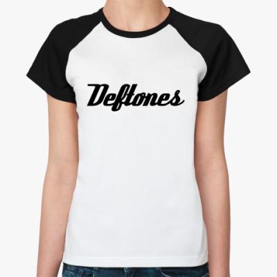 Женская футболка реглан Deftones
