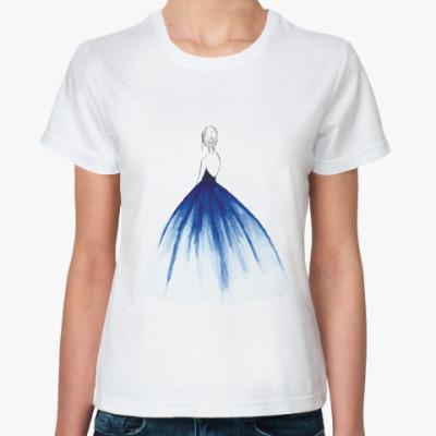 Классическая футболка Нежность в синем