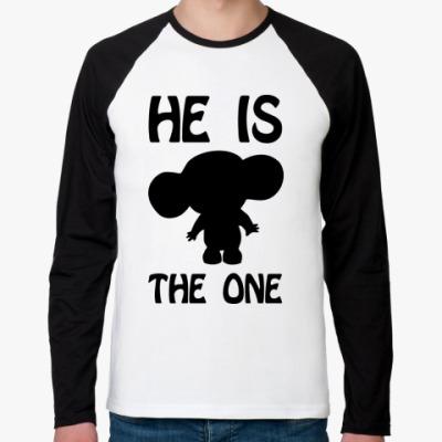 Футболка реглан с длинным рукавом He is the One