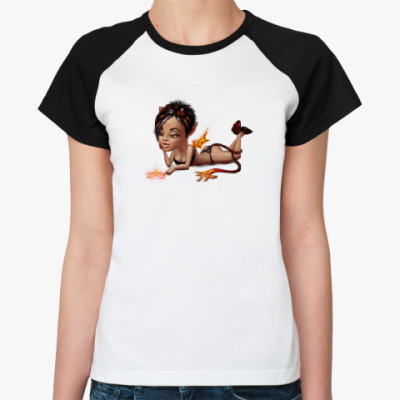 Женская футболка реглан Чертовка