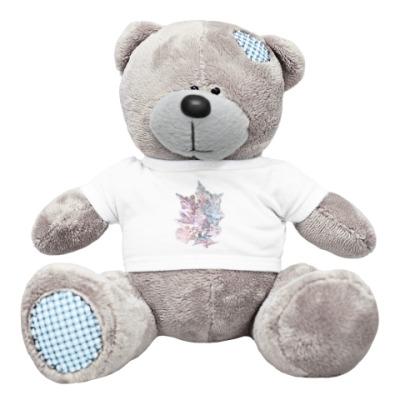 Плюшевый мишка Тедди Делатель снега