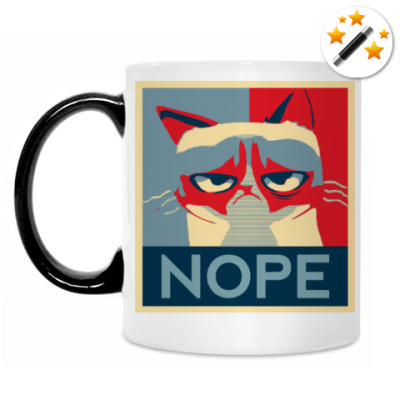 Кружка-хамелеон Grumpy cat - NOPE
