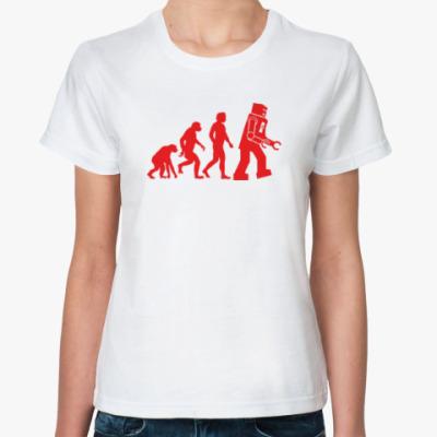 Классическая футболка Эволюция