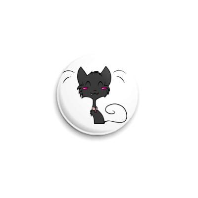 Значок 25мм Кошечка