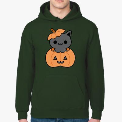 Толстовка худи Pumpkin Cat