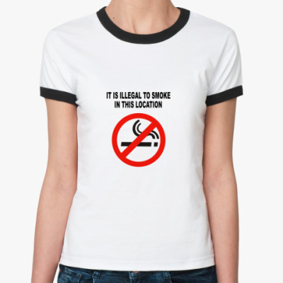 Женская футболка Ringer-T футболка No smoking (жен.)