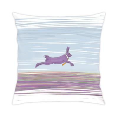 Подушка Лавандовый супербыстрый заяц