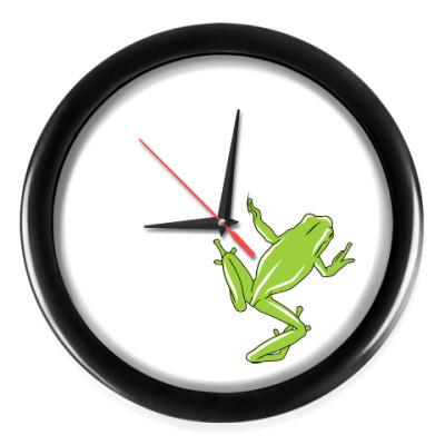 Настенные часы Лягушка