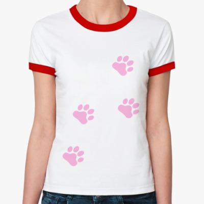 Женская футболка Ringer-T Лапки