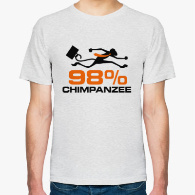 Футболка На 98% шимпанзе