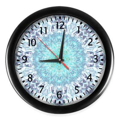 Настенные часы кристаллическая абстракция