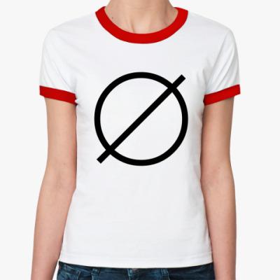 Женская футболка Ringer-T Пустое множество