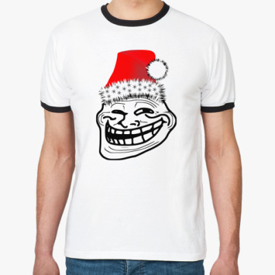 Футболка Ringer-T Trollface: happy new year