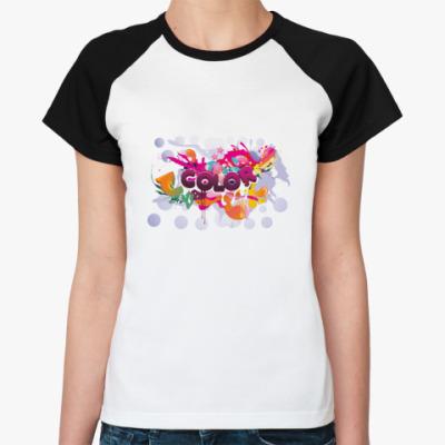 Женская футболка реглан Color