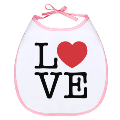 Слюнявчик LOVE