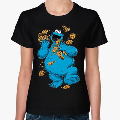 Женская футболка Cookie Monster