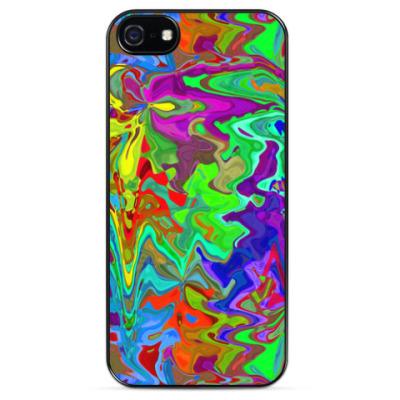 Чехол для iPhone Цветные разводы