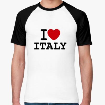 Футболка реглан   I Love Italy