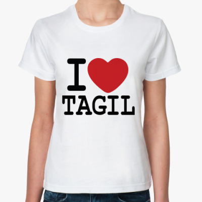 Классическая футболка I Love Tagil