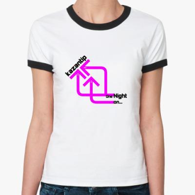 Женская футболка Ringer-T kaZantip