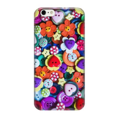 Чехол для iPhone 6/6s пуговицы и сердечки